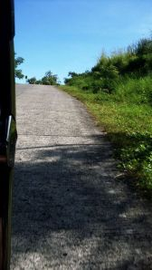 The uphill drive.